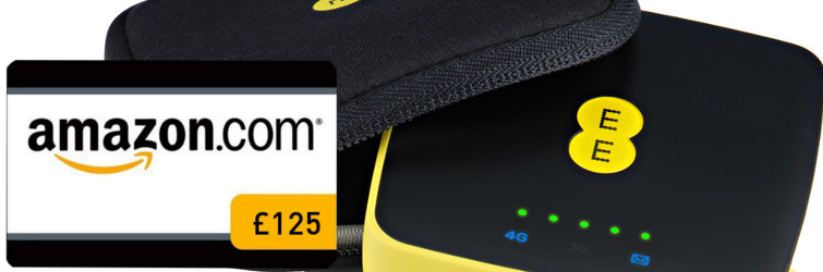 Free £125 Amazon gift card with 16GB 4GEE WiFi Mini