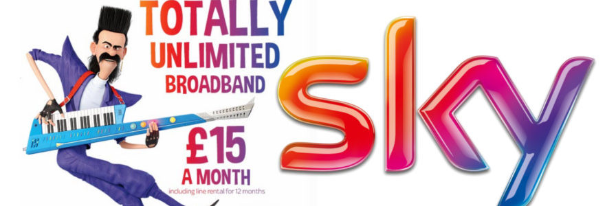 Mega Sky broadband price drop to £15/month