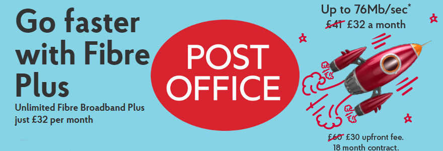 Post Office fibre broadband 38Mbps and 76Mbps launched