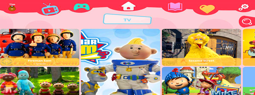 Virgin Kids TV app ad-free fun for 3-7 year olds