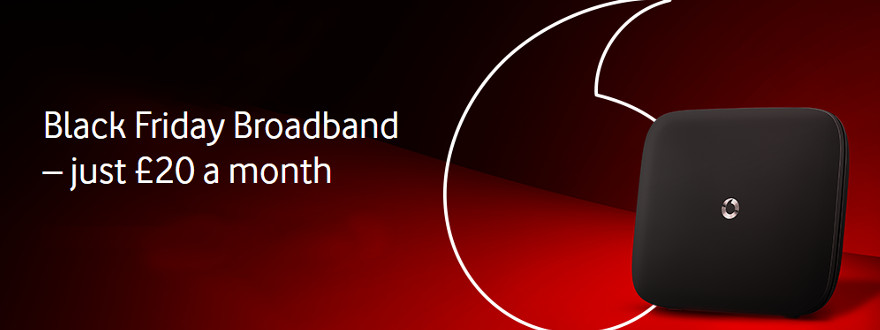 Black Friday broadband deals: Vodafone £20 fibre
