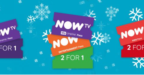 NowTV deals: 2 for 1 on Entertainment, Sky Cinema, Kids Pass