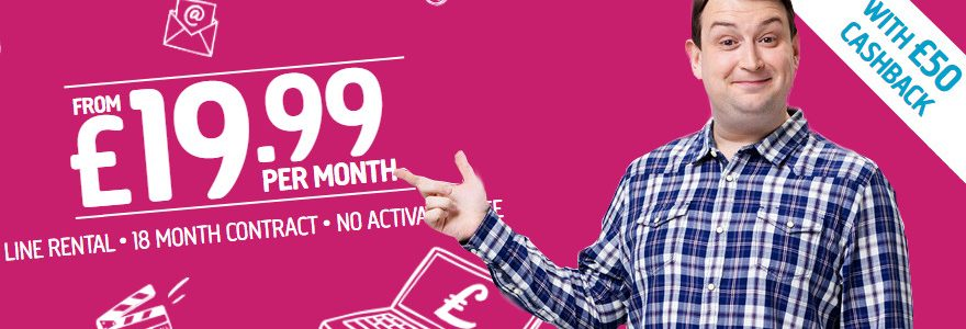 Plusnet deals now with £50 cashback