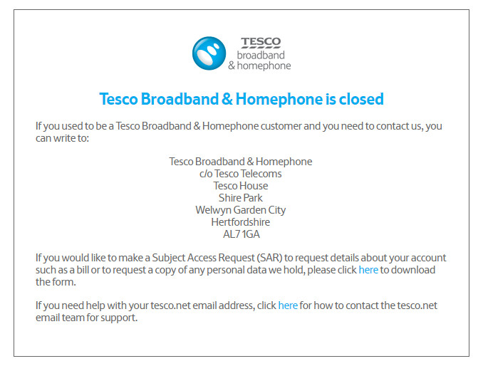 Whatever happened to Tesco Broadband? 1