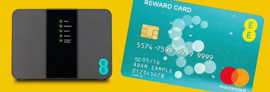 EE fibre deals and TV offer £75 Reward Cards