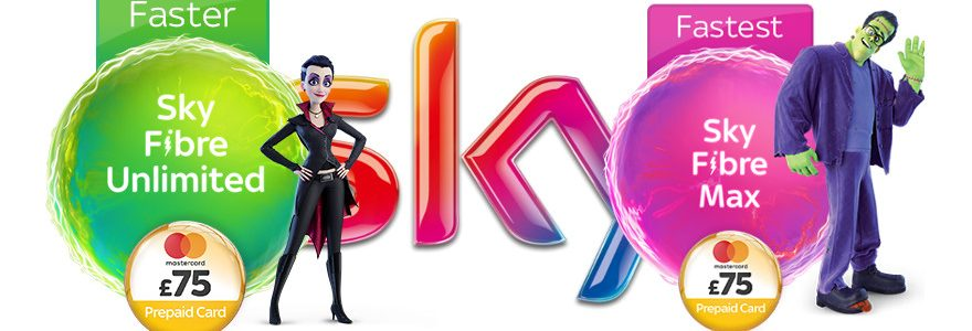 Sky fibre deals now with £75 Reward Card