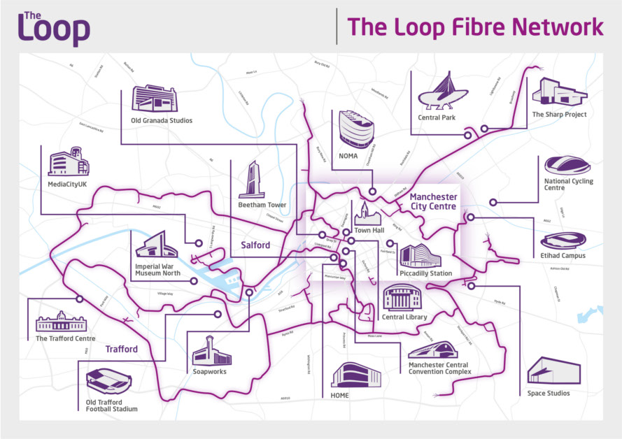 The Loop Manchester 10Gbps broadband map