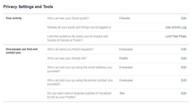 How to check and change your Facebook privacy settings 1