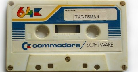 photo of commodore 64 game cassette - talisman