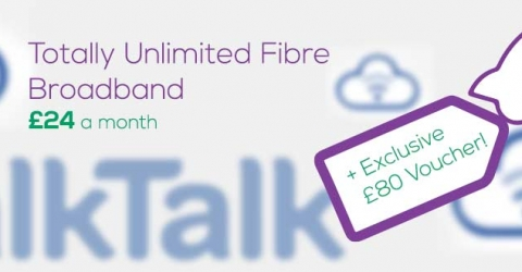 TalkTalk £80 bonus for Faster Fibre Products