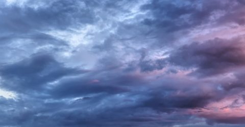 photo of clouds at sunset