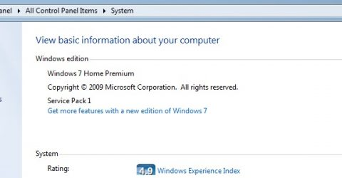 a screen capture of the windows 7 control panel
