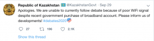 My Wi-Fi! Borat cancelled in Kazakhstan for broadband jokes. 1