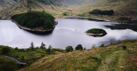 an image of a lake from the Lake District, UK