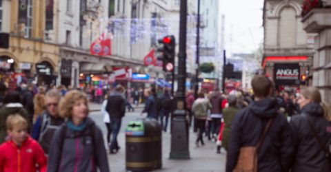 an image of a high street in the UK