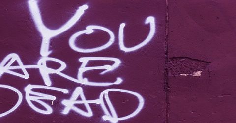you are dead graffiti