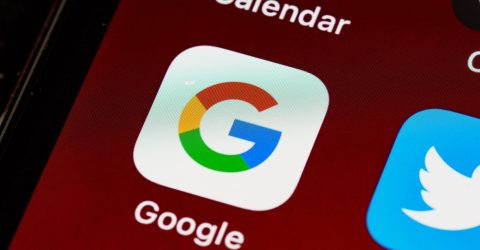 the google app icon shown on an iphone screen
